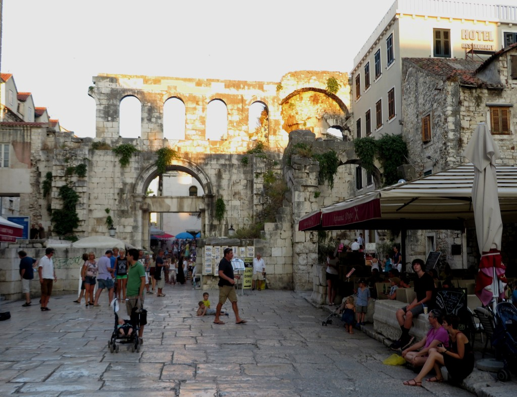 City of Split in Croatia . . . a Roman Palace runs through it . . .