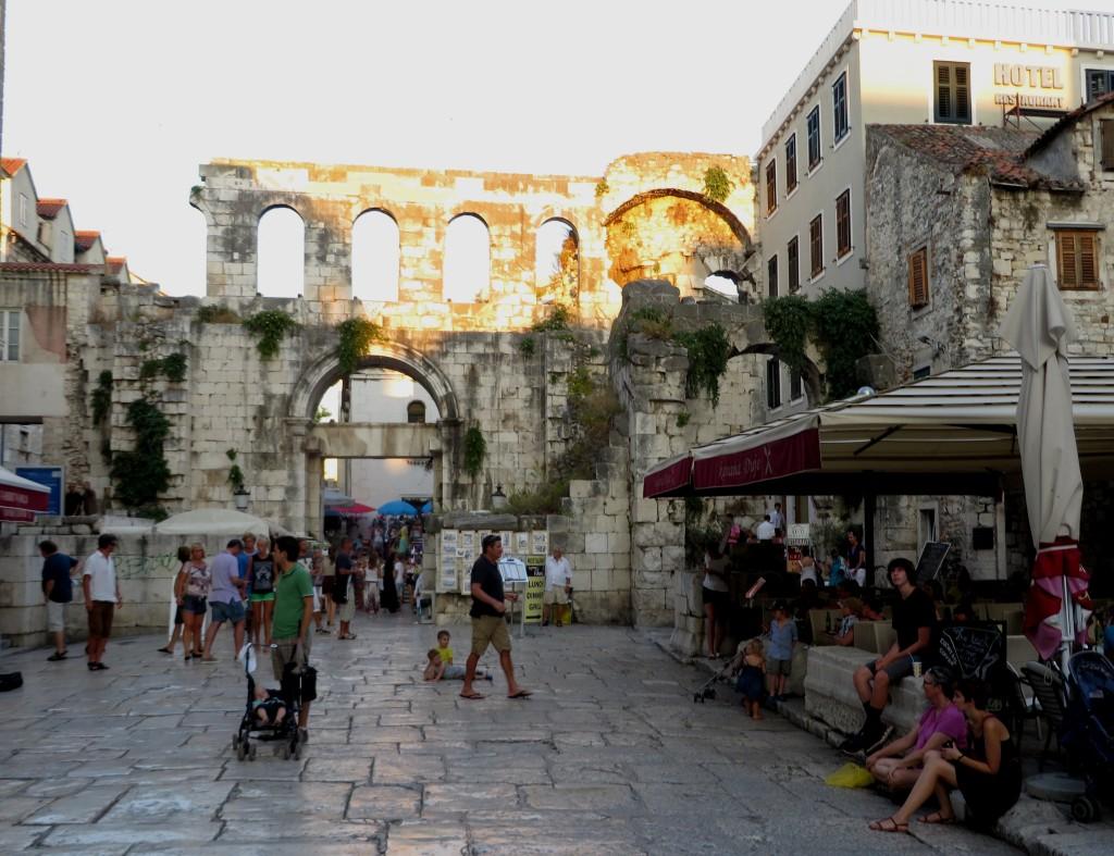 City of Split in Croatia . . . a Roman Palace runs through it . . .